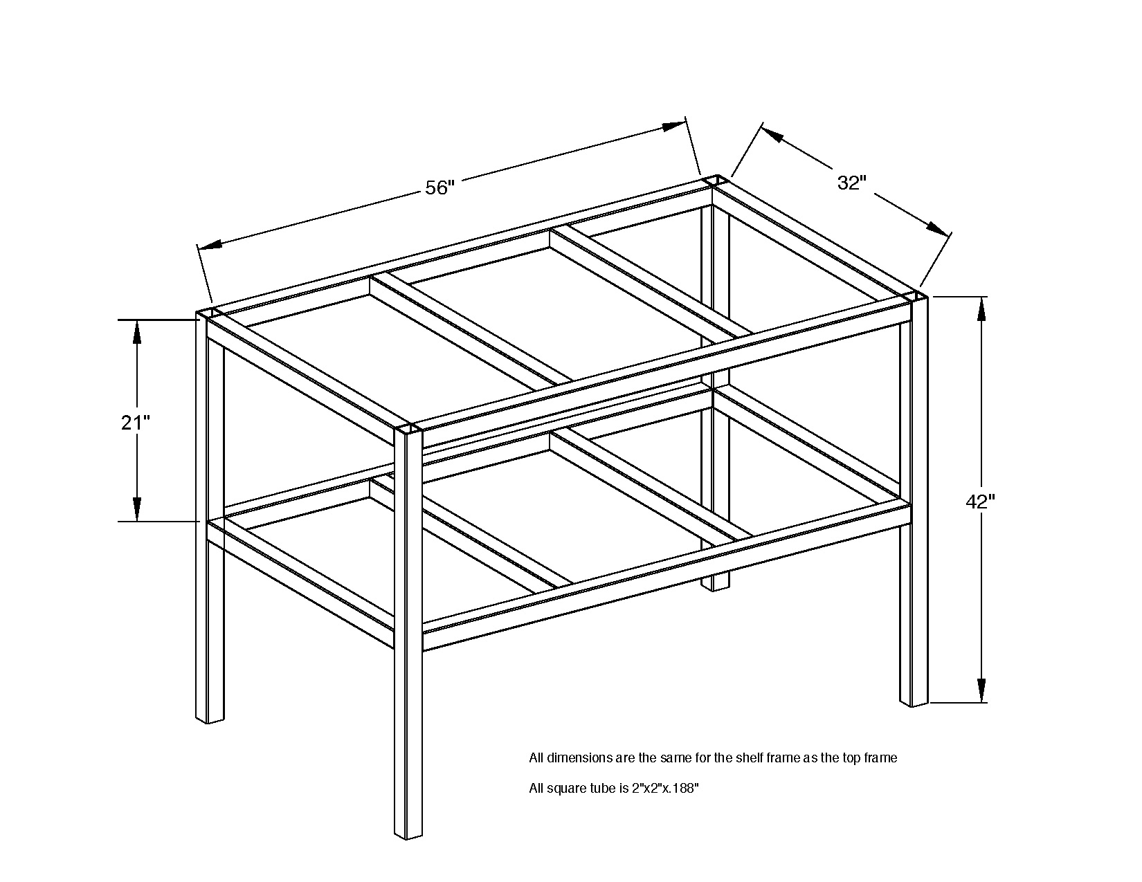 Welding Table Plans 3x5 Heavy Duty Red Wing Steel Works Plan Fabrication  Table